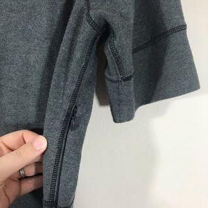 Athleta Dresses - Athleta Strata gray fitted pocket dress sz large